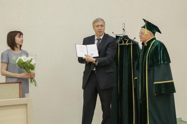 Награждение профессора Зиновьева Ф.В. за выдающиеся заслуги перед БГСХА